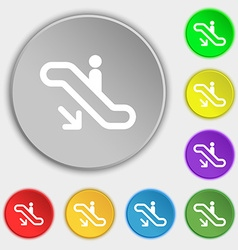 Elevator escalator staircase icon sign symbol on vector