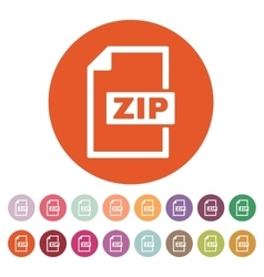 The zip file icon archive and compressed symbol vector