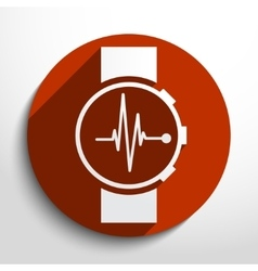 Medical watch web icon vector