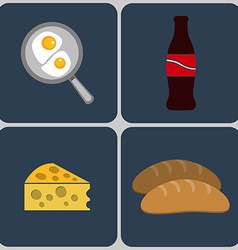 Classic english breakfast icon set vector
