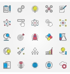 Colorful innovation icons set vector image