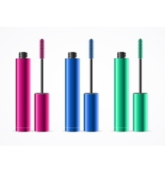 Colorful mascara set vector