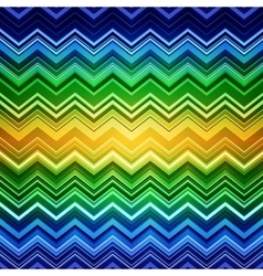 Abstract blue green and yellow zig-zag warped vector image