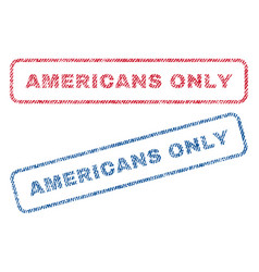 Americans only textile stamps vector