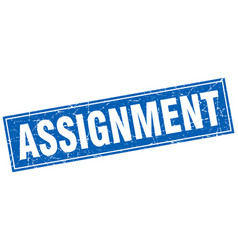 Assignment square stamp vector