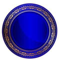 blue oriental tray vector image vector image