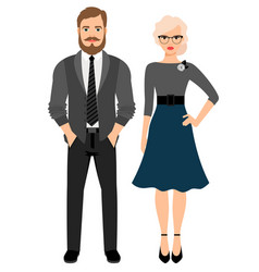 Business style fashion couple vector