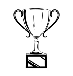 Cup award Isolated on white vector image