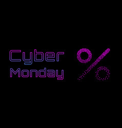 Cyber monday sale concept banner 1980s - 1990s vector