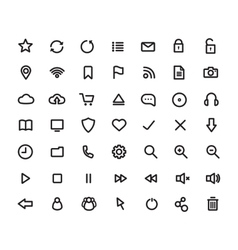 Digital multimedia thick line icons set vector