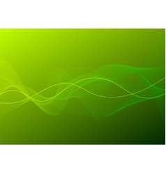 Green curve line abstract background vector