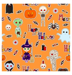 Halloween with letters vector