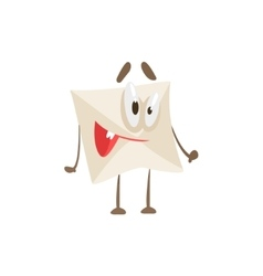Happy Humanized Letter Paper Envelop Cartoon vector image