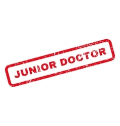 Junior doctor text rubber stamp vector