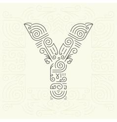 Letter Y Golden Monogram Design element vector image vector image