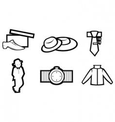 men's fashion vector image vector image