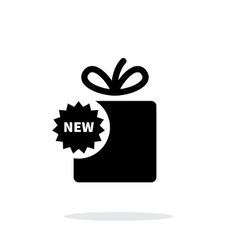 New box icon on white background vector image vector image