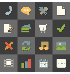 Online shopping website iconset color flat vector