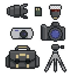 Photographic icon set vector
