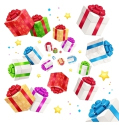 Present Boxes Background Holiday Birthday vector image vector image