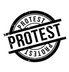 Protest rubber stamp vector