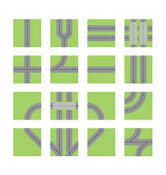 road set vector image vector image