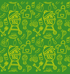 Seamless pattern for barbecue vector