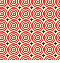 Seamless pattern red ripple circle with black diam vector