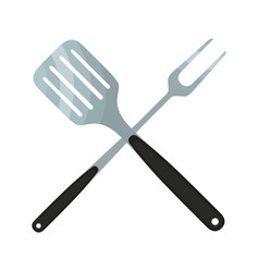 Spatula barbecue fork logo for barbecue party vector
