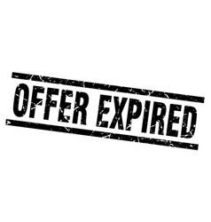 Square grunge black offer expired stamp vector