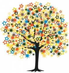 star tree vector image vector image