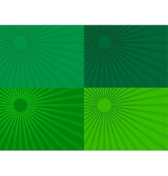 The green rays of the sun eps 10 vector