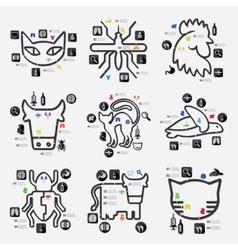Veterinary infographic vector