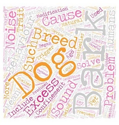Why dog s bark text background wordcloud concept vector