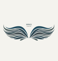 wings pattern on a light background vector image vector image