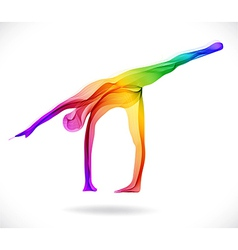 Yoga pose Abstract color vector image vector image