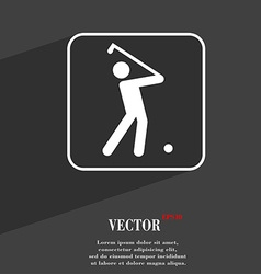 Golf symbol flat modern web design with long vector