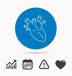 heart icon human organ sign transplantation vector image