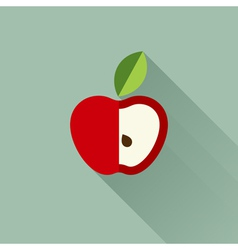 Apple with leaf vector