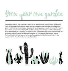 Cacti banner vector