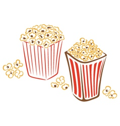 Popcorn cinema movies tv vector