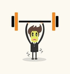 Weightlifter business man vector