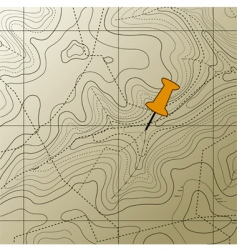Topography map background vector