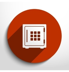 Bank safe web icon vector