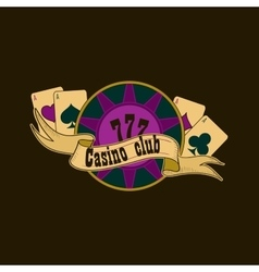 Casino and gambling emblem vector image