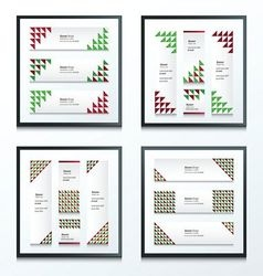 Triangle pattern christmas styles set vector