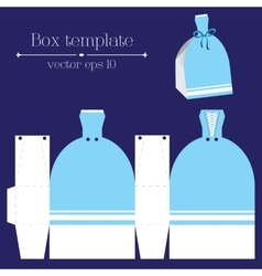 Box template blue glad rags vector