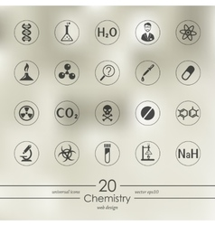 Set of chemistry icons vector