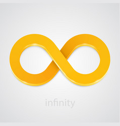 abstract infinity gold sign vector image vector image