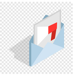 audio message isometric icon vector image vector image